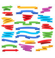 colorful ribbons and pointers vector image vector image