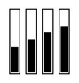 diagram growth black color icon vector image vector image