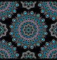 dot painting seamless pattern with mandala vector image vector image