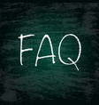 faq grunge background vector image vector image
