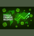 financial economy recovery after coronavirus vector image