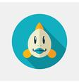Fish flat icon Animal head vector image