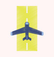 flat icon in shading style airplane runway vector image vector image