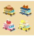Food Truck Designs Collection of Icons vector image vector image