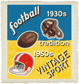 football vintage vector image