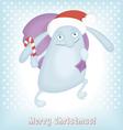 Funny Christmas bunny vector image vector image
