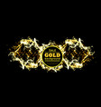 gold sparkles on black background vector image vector image
