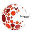 halftone red circle color red dot on white vector image