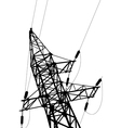 high voltage power lines and pylon vector image vector image