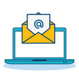 internet email concept vector image
