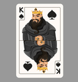 King of spades playing card vector image