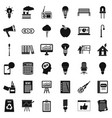 lamp icons set simple style vector image vector image
