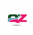Letter q and z logo vector image vector image