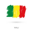 mali colorful brush strokes painted national vector image vector image