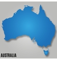 map australia continent country vector image