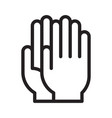 medical gloves sign vector image vector image