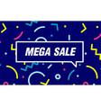 mega sale in design banner template for vector image