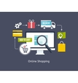 Online Shopping process infographic vector image