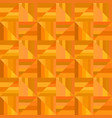 orange abstract striped square tile mosaic vector image vector image