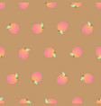 peach seamless on brown background vector image vector image