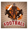 Player of american football design vector image vector image