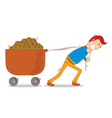 pulling a cart vector image vector image