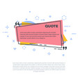 quote line vector image