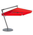 realistic 3d detailed red umbrella cafes vector image vector image