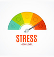 realistic detailed 3d stress indicator counter vector image vector image
