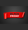 red paper roll black friday concept design vector image