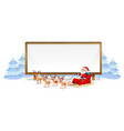 santa on whiteboard banner vector image vector image