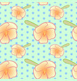 seamless floral pattern with orange impatiens vector image vector image