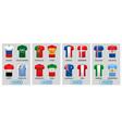 set football jerseys for 2018 soccer vector image