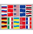 set of flags countries in the world vector image vector image