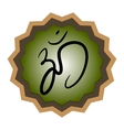 Sign Hindu Om Icon in Tamil vector image vector image