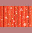 snowfall and red wood background vector image