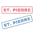 stpierre textile stamps vector image vector image