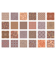 street road pavements tile patterns top view vector image vector image