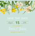 summer and spring floral card in watercolor vector image vector image