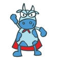 Super cow strong cartoon design for kids vector image