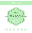 Tea room business card template vector image vector image