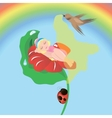 thumbelina sleeping vector image