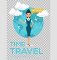 travel around the world brochure vector image vector image
