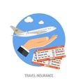 Travel Insurance Flat Icon vector image vector image