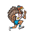 Turkey Run Runner Thumb Up Cartoon vector image vector image
