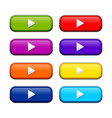 various colored rounded box web buttons vector image vector image