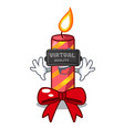 virtual reality christmas candle combined with vector image
