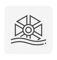 water turbine icon vector image vector image