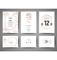 wedding save date invitation cards collection vector image vector image