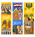 welcome to ancient egypt travel landmark banners vector image vector image
